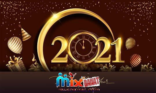 istockphoto 1275751790 170667a - New Year 2021 greeting card 2021 golden New Year
