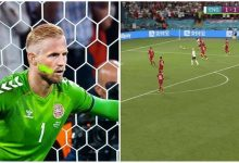 england vs denmark, euro 2020, two balls on pitch, sterling penalty