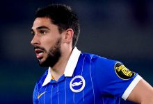 Neal Maupay in action against Newcastle United at the Amex Stadium (PA images)