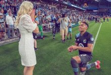 Watch: American Football Player Proposes To Girlfriend On Pitch