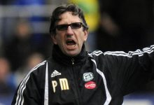 Paul Mariner during his time in charge at Plymouth Argyle
