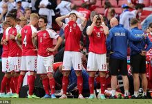 The Euros started in an horrendous fashion when Denmark's Christian Eriksen collapsed (pictured - his team-mates surround their star player as he received CPR)